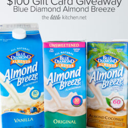 Blue Diamond Almond Breeze $100 Gift Card Giveaway thelittlekitchen.net