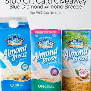 Blue Diamond Almond Breeze $100 Gift Card Giveaway thelittlekitchen.net