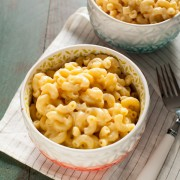 Three Cheese Mac & Cheese Recipe (made with almondmilk!) from thelittlekitchen.net