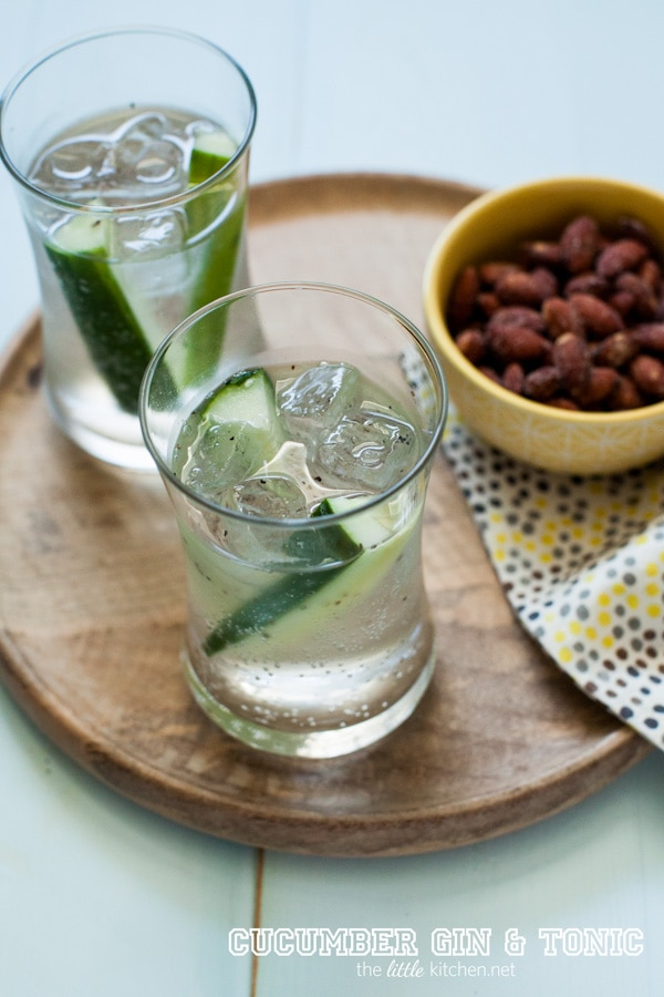 cucumber gin and tonic from thelittlekitchen.net