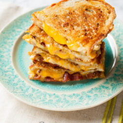 Swiss & Cheddar Grilled Cheese Sandwiches from thelittlekitchen.net
