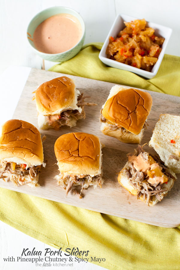 Slow Cooker Kalua Pulled Pork Sliders from Epcot Food & Wine Festival thelittlekitchen.net