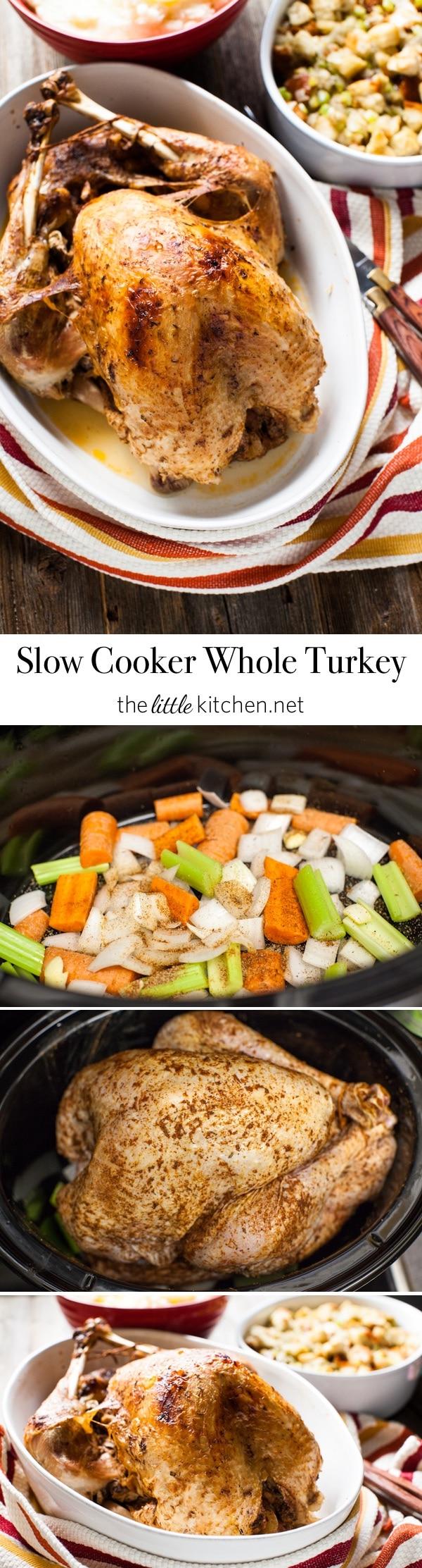 Slow Cooker Whole Turkey from thelittlekitchen.net