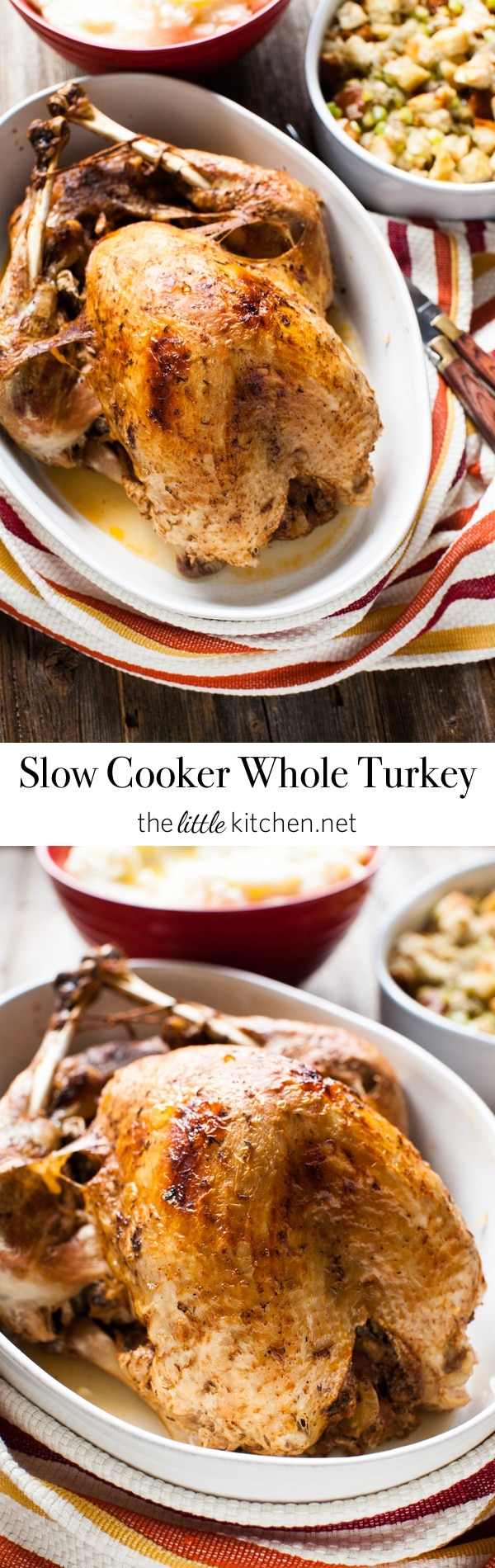 Slow Cooker Whole Turkey from thelittlekitchen.net