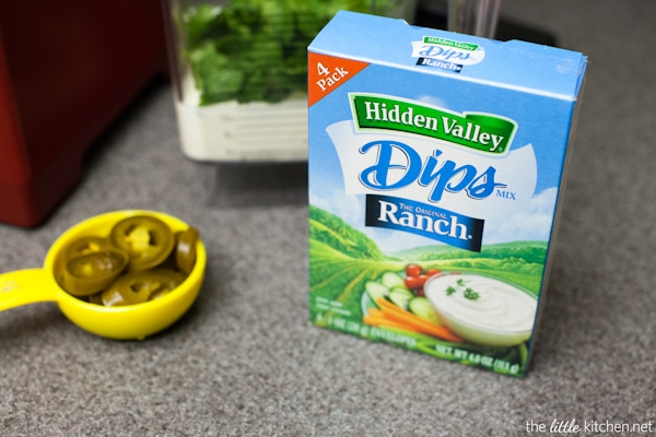 Spicy Jalapeno Ranch Dip Recipe from thelittlekitchen.net