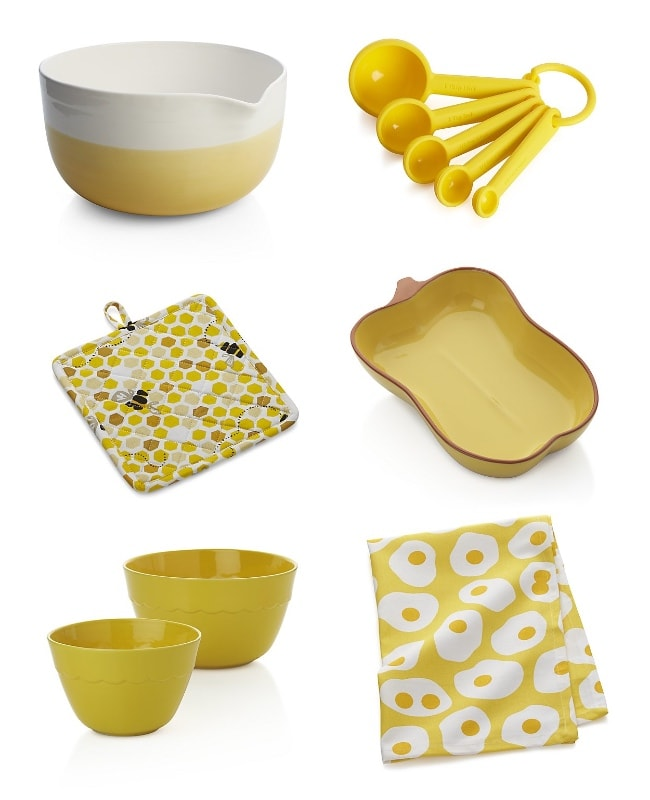Crate and Barrel yellow products