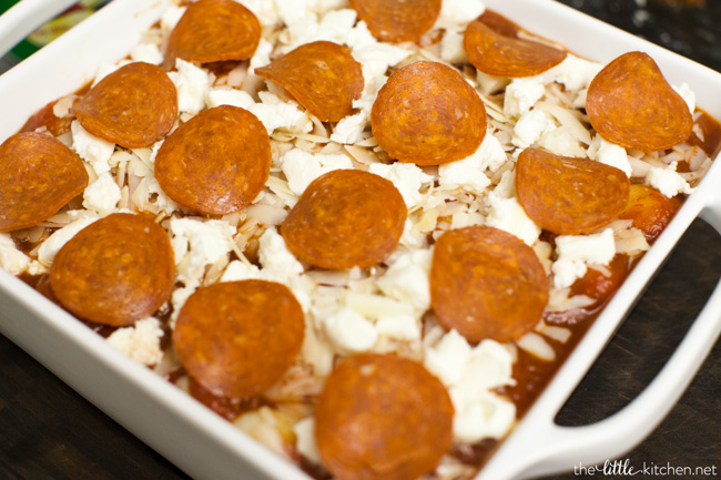 Pepperoni Pizza-Baked Gnocchi from thelittlekitchen.net