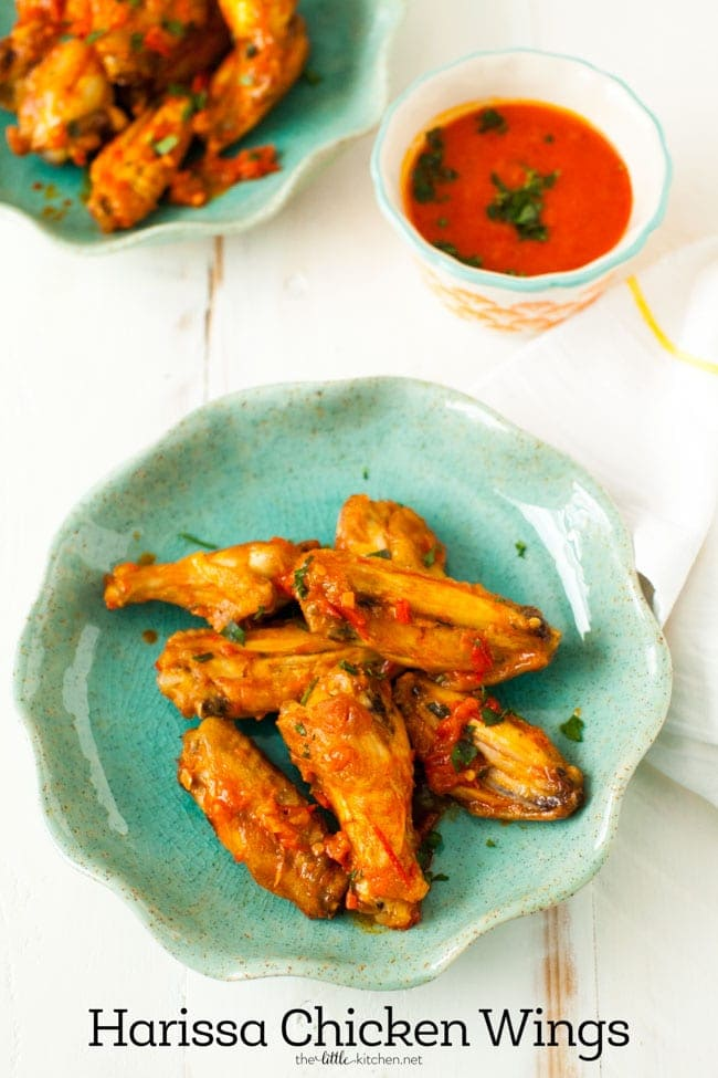 Baked Harissa Chicken Wings from thelittlekitchen.net
