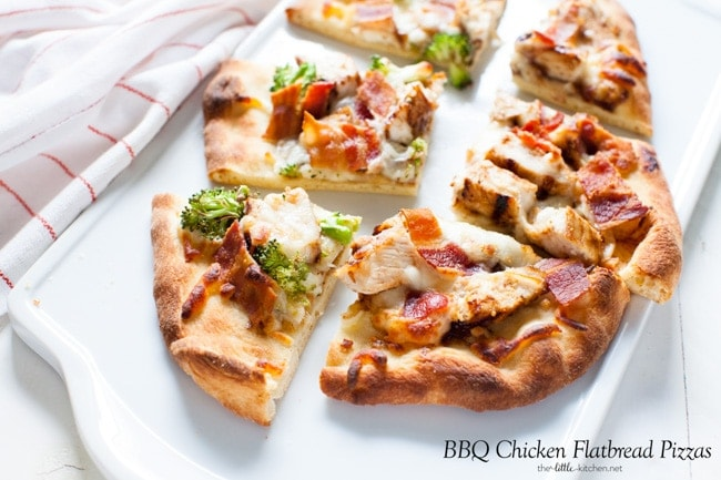 BBQ Chicken Flatbread Pizzas from thelittlekitchen.net