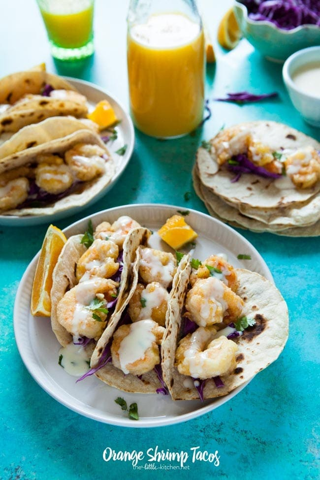 Orange Shrimp Tacos from thelittlekitchen.net