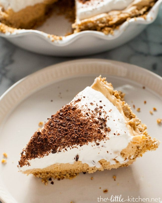 Peanut Butter Mousse Pie from thelittlekitchen.net