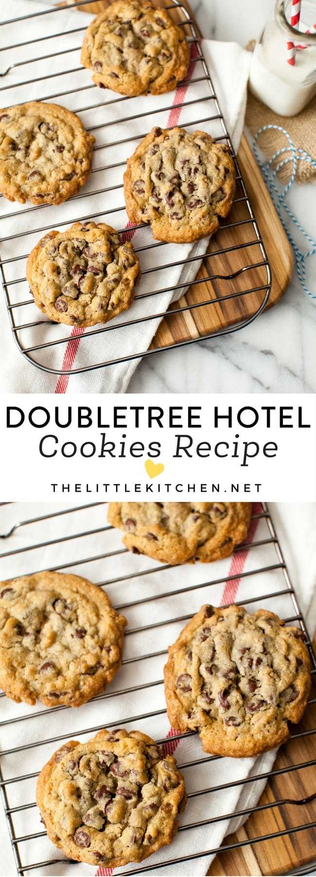 DoubleTree Hotel Chocolate Chip Cookies thelittlekitchen.net