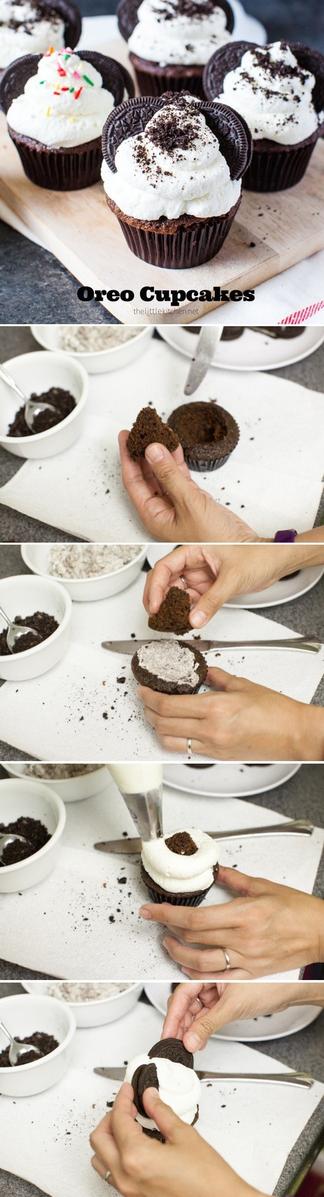 Oreo Cupcakes from thelittlekitchen.net