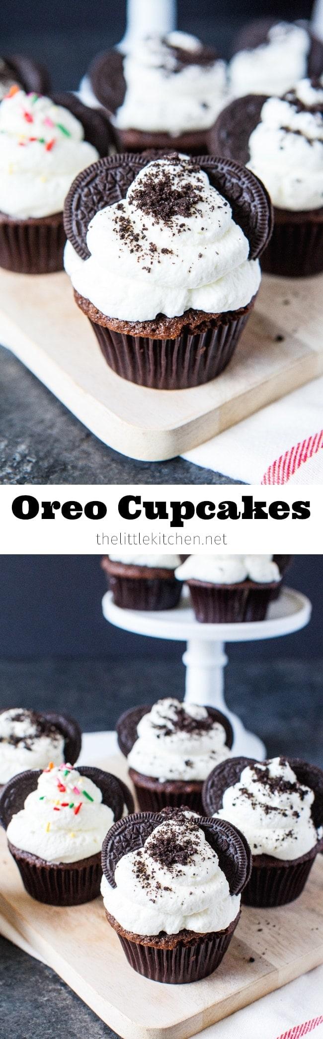 Oreo Cupcakes from thelittlekitchen.net