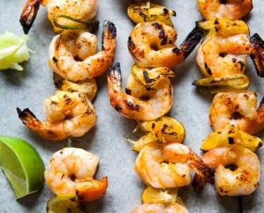 Sriracha Lime Grilled Shrimp from thelittlekitchen.net