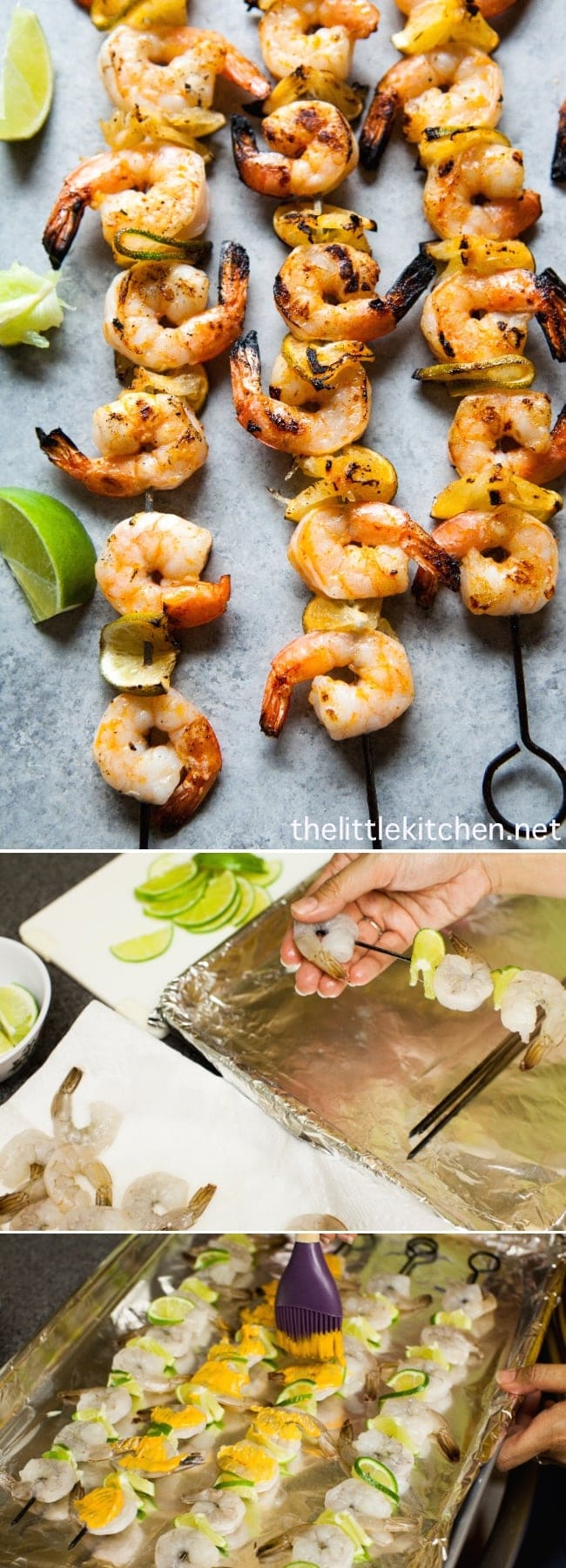 (so easy to make!) Sriracha Lime Grilled Shrimp from thelittlekitchen.net