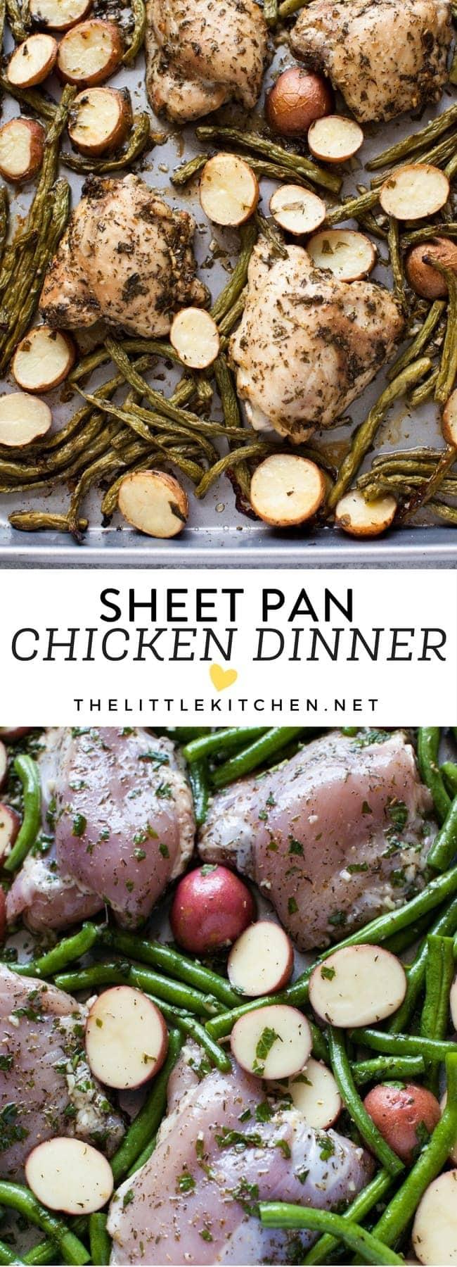 Sheet Pan Chicken Dinner from thelittlekitchen.net