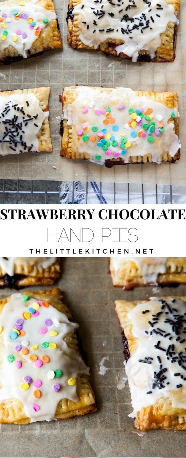Strawberry Chocolate Hand Pies from thelittlekitchen.net