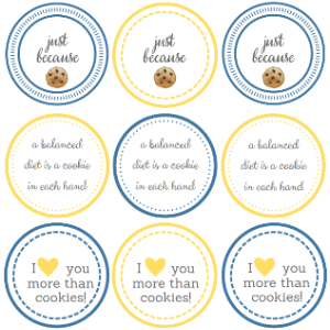 Printable Cookie Gift Tags from thelittlekitchen.net