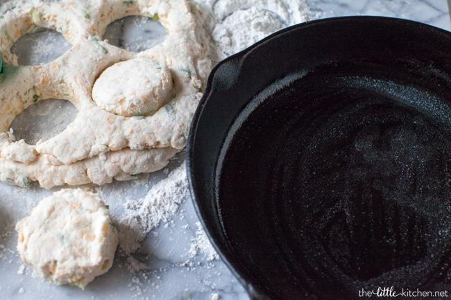 Cheddar Scallion Biscuits from thelittlekitchen.net