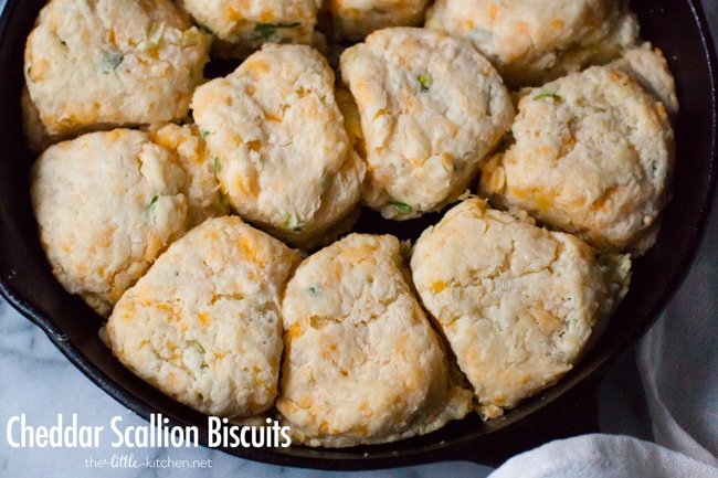 Cheddar Scallion Biscuits from thelittlekitchen.net