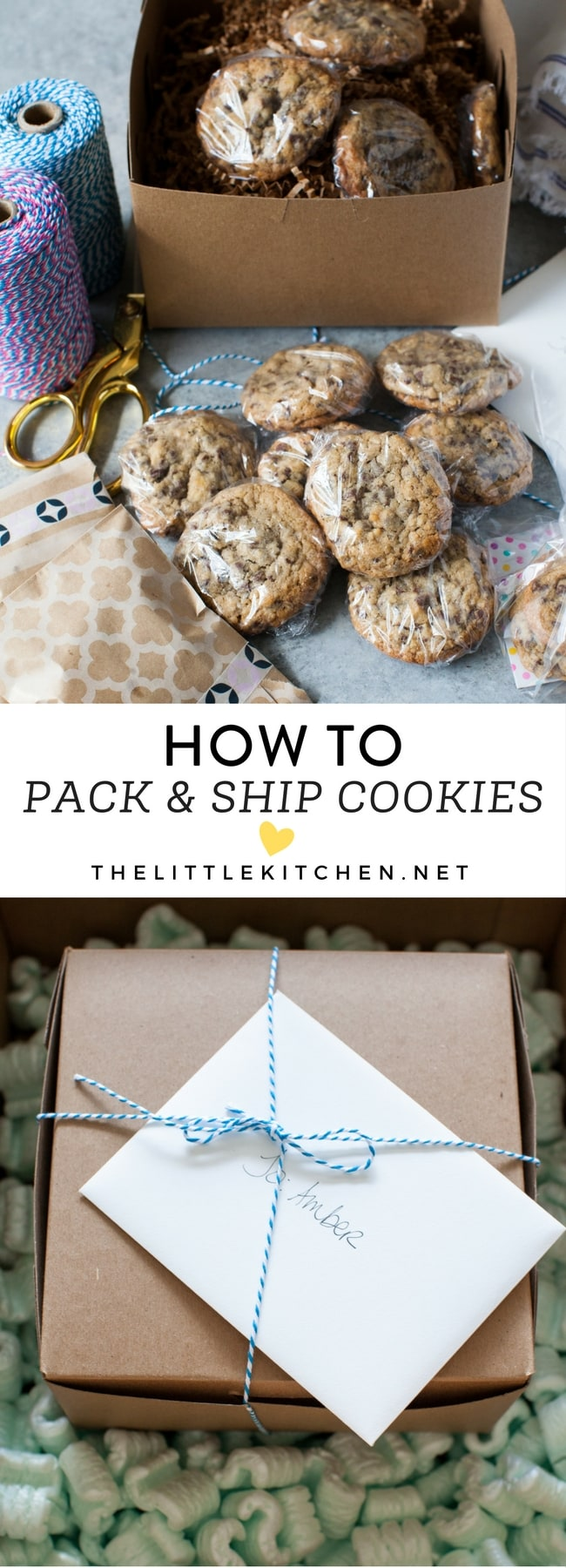 How to Pack & Ship Cookies from thelittlekitchen.net