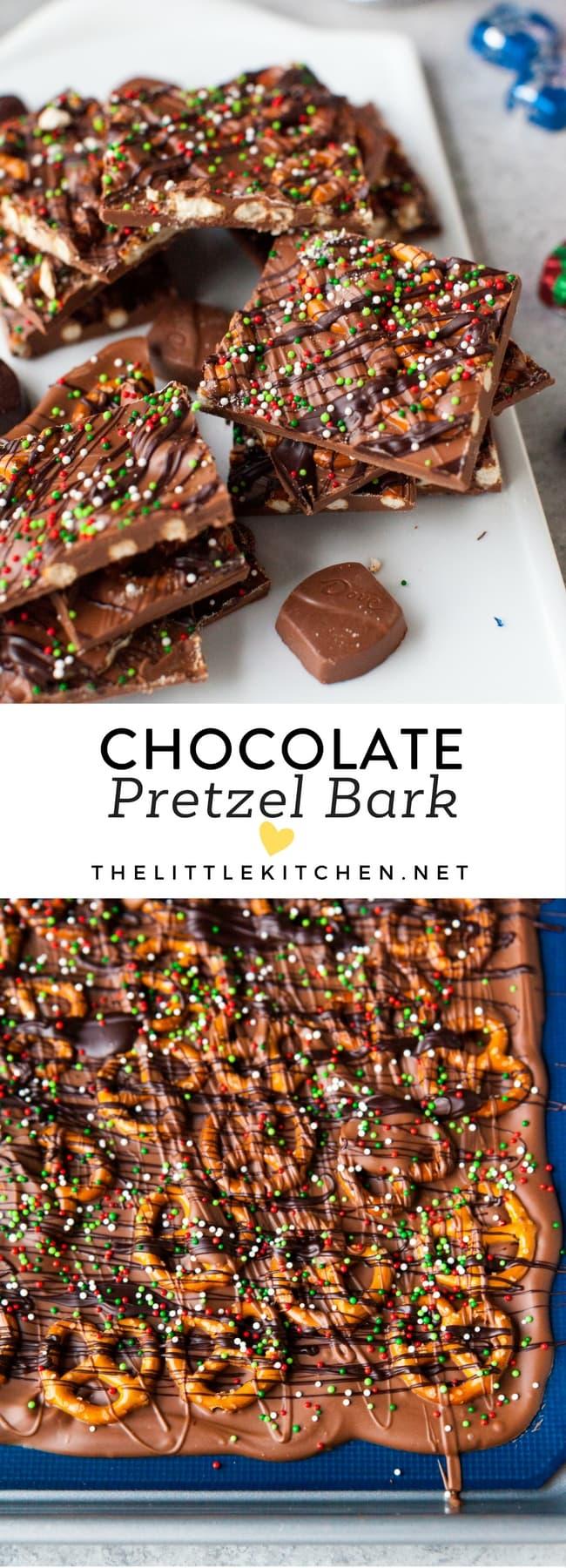 Chocolate Pretzel Bark from thelittlekitchen.net
