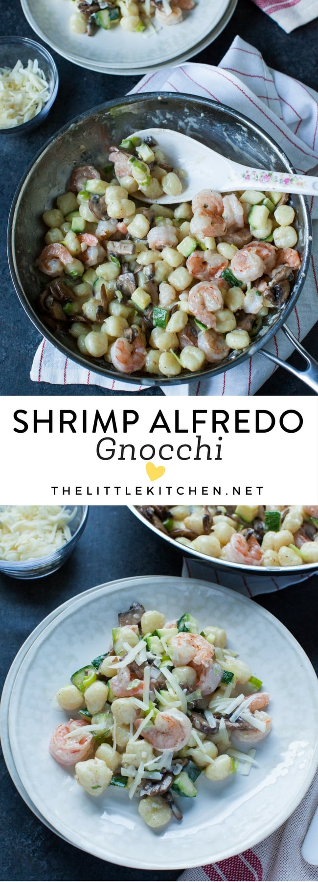 Shrimp Alfredo Gnocchi from thelittlekitchen.net