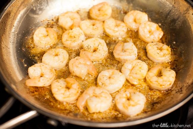 BLT Shrimp Flatbreads from thelittlekitchen.net