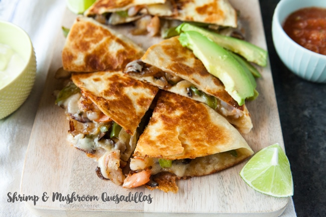 Shrimp Quesadillas from thelittlekitchen.net