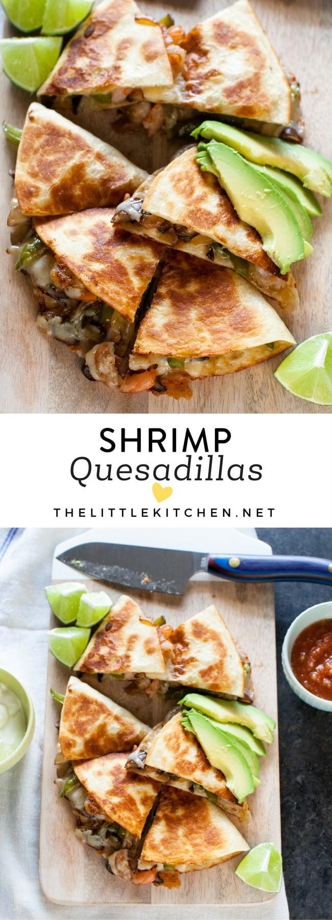 Shrimp Quesadillas from thelittlekitchen.net