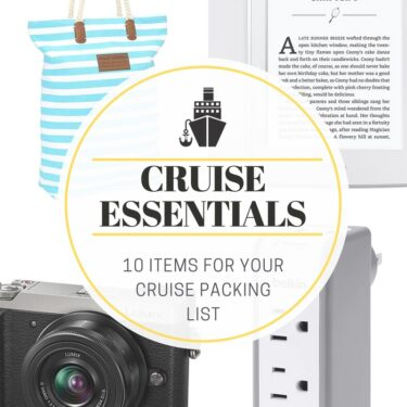 Cruise Packing List from thelittlekitchen.net