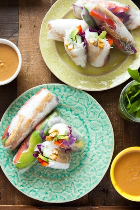 Tofu Spring Rolls from thelittlekitchen.net