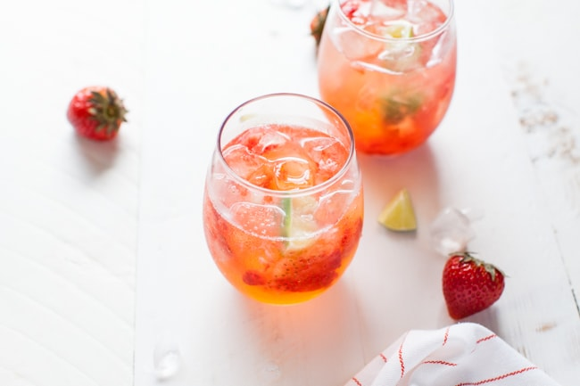 strawberry gin and tonic thelittlekitchen.net