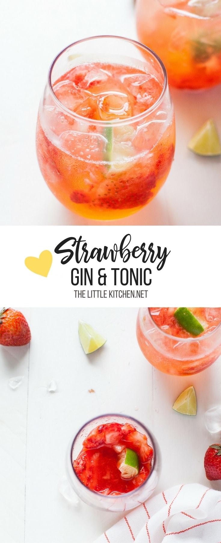 strawberry gin and tonic thelittlekitchen.net