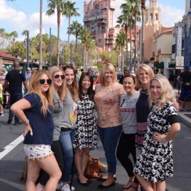 Walt Disney World trip Hollywood Studios group photo