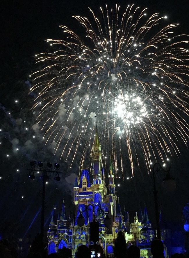 Walt Disney World trip Happliy Ever After fireworks show