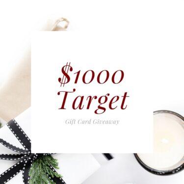$1000 Target Gift Card Giveaway thelittlekitchen.net
