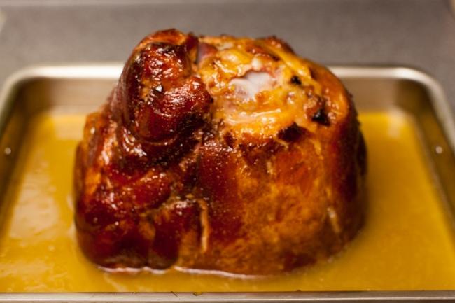 Orange Glazed Ham from thelittlekitchen.net