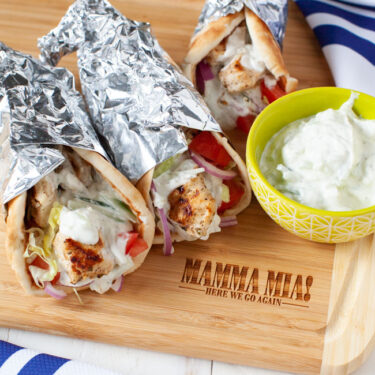 Grilled Chicken Gyros from thelittlekitchen.net