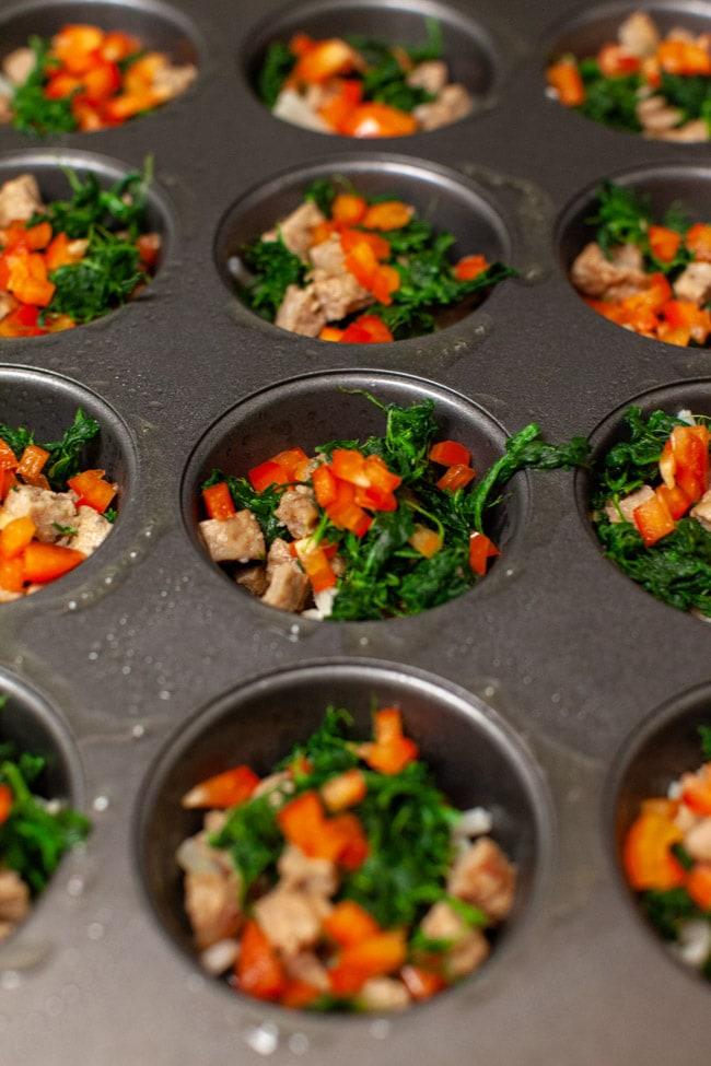 Five Ingredient Breakfast Egg Cups from thelittlekitchen.net