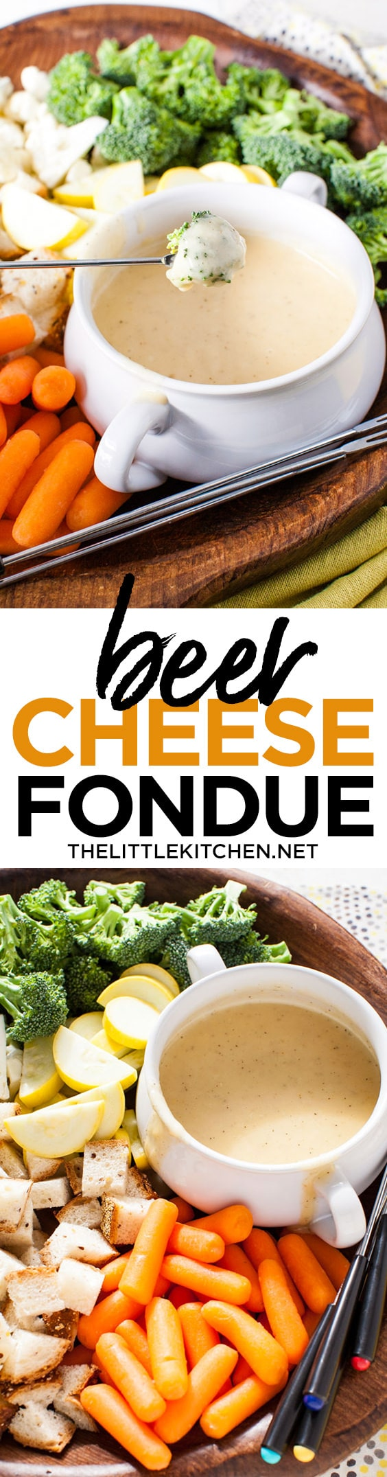 Beer Cheese Fondue from thelittlekitchen.net