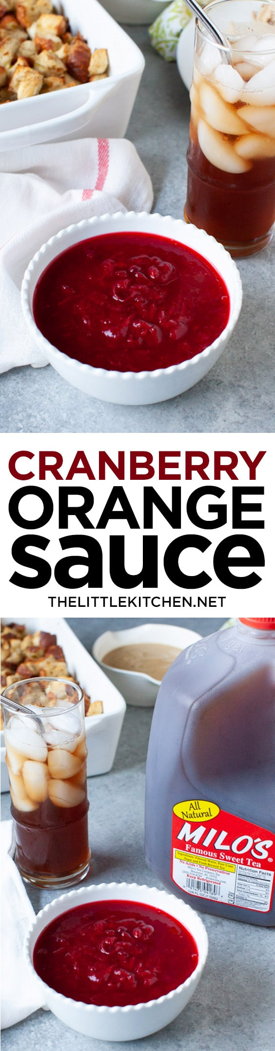 Cranberry Orange Sauce from thelittlekitchen.net