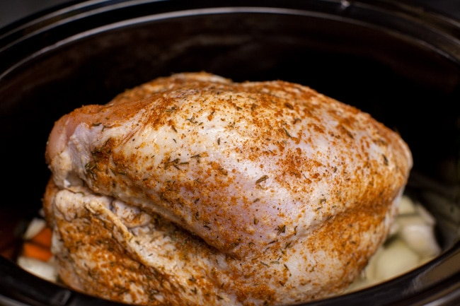 Slow Cooker Turkey Breast from thelittlekitchen.net