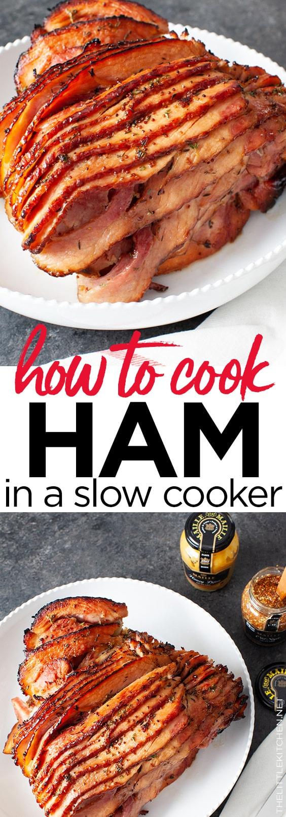 Slow Cooker Ham from thelittlekitchen.net