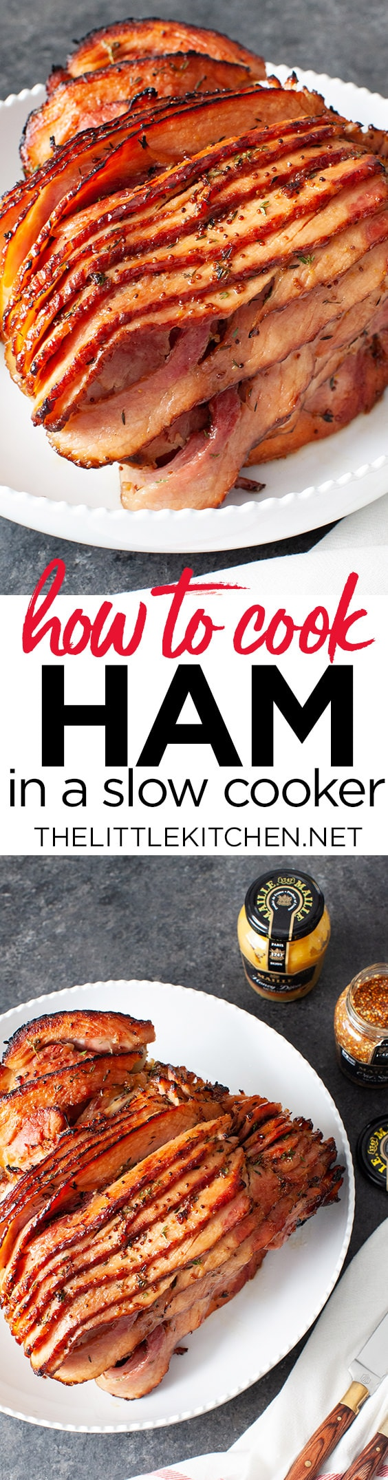 Slow Cooker Ham from thelittlekitchen.net