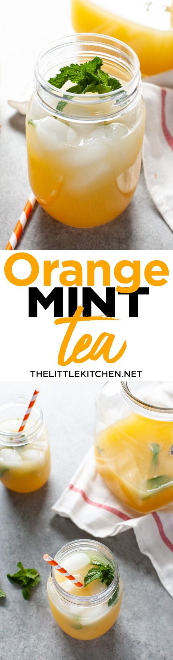 Orange Mint Tea from thelittlekitchen.net