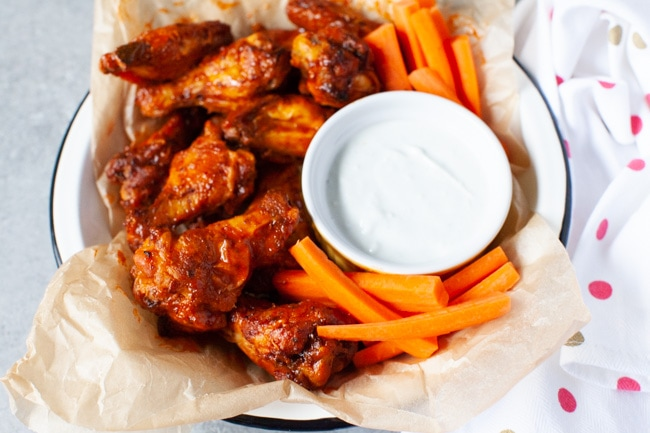 Air Fryer Chicken Wings from thelittlekitchen.net