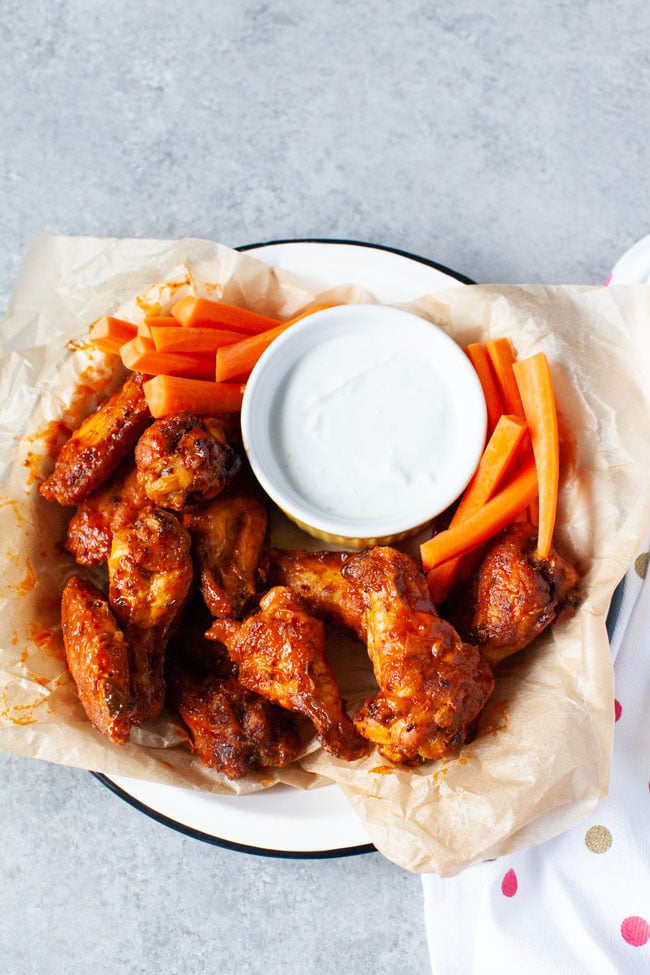 Buffalo Air Fryer Chicken Wings from thelittlekitchen.net