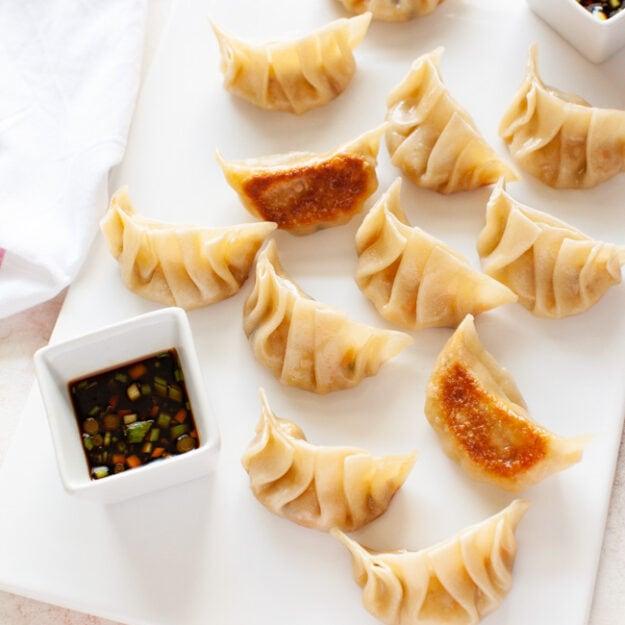 Vegetarian Dumplings from thelittlekitchen.net